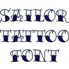 Hopscotch Home Format Fonts Embroidery Fonts: Sailor Tattoo Font 1.00 inches H