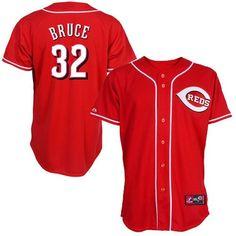 ef5a24e277c Majestic Cincinnati Reds  32 Jay Bruce Red Replica Baseball Jersey