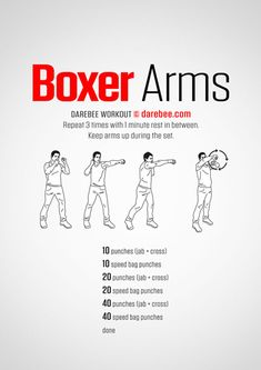 Boxer Arms Workout Mma Workout, Home Boxing Workout, Kickboxing Workout, Boxing Workout With Bag, Boxing Training Workout, At Home Workouts, Gym Workouts, Workout Partner, Boxing Routine