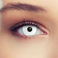 Halloween Contact Lenses Lentilles White Zombie Scary Monster Crazy Costume
