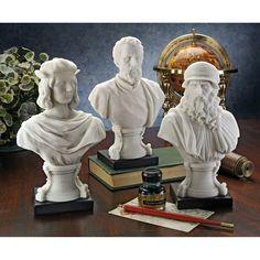 3 Piece Italian Renaissance Master Bust Set