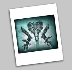 Aliens Queen Xenomorph Movie Tribute Art Prints, Sci Fi Horror Design, by Sherrie Thai of shaireproductions on Etsy