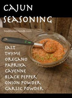 Homemade Cajun Seasoning - Might want to reduce the amount of salt, but this could be fun to have!