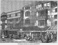 """""""Picturesque Sketches of London. &mdash Whitechapel"""" from """"The Illustrated London News"""" (January 1849)"""