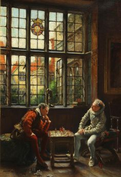 BENNETT Frank Moss (1874 – 1953) The chess game. 1920
