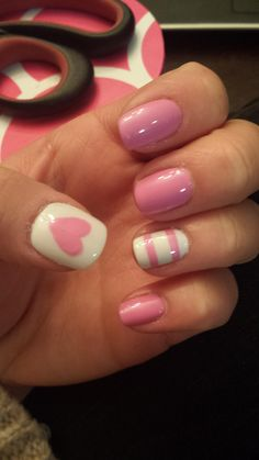 Simple Valentine's Day nails
