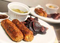 Herzhafte Würstchen mit Cannellini Bohnen - sojafrei, glutenfrei und vegan