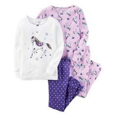 Size 24m Baby Girl Carter's Horse 4-pc. Tee