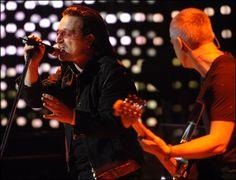 Bono & Adam in Montreal - November 26, 2005