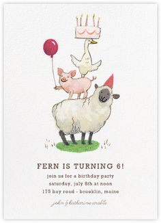 Fawnsberg Barnyard Birthday - Paperless Post, petting zoo birthday party, farm birthday