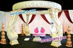 #Designer #Fiber #Peacock #Mandap #Indian #Wedding #Dstexports