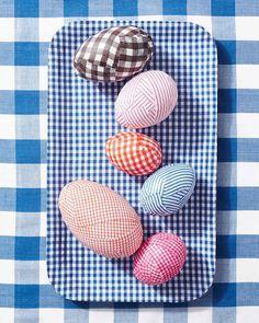 guinga decoupaged huevos de Pascua