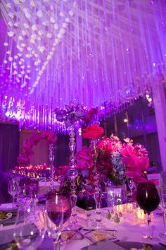 Photo by Rick Aguilar Studios. 18 Birthday Party Decorations, Sweet 16 Party Decorations, Quince Decorations, Birthday Parties, Neon Birthday, 16th Birthday, 18th Party Ideas, Quince Themes, Bat Mitzvah Party