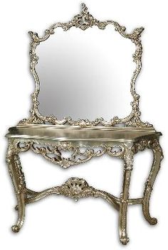Marie Antoinette Mirror and Console