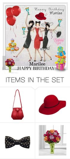 """Happy Birthday Marilee"" by beleev ❤ liked on Polyvore featuring art"