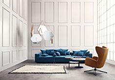Sion Sessel aus einem Guss mit erstklassigem Komfort. Der Sessel wird mit einem Drehfuß und einer Wippfunktion geliefert und von Glismand & Rüdiger entworfen.