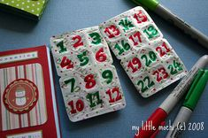 Advent Calendars made from packs of gum. So clever and cheap!