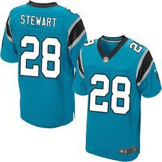 Nike Elite Jonathan Stewart Blue Men's Jersey - Carolina Panthers #28 NFL Alternate