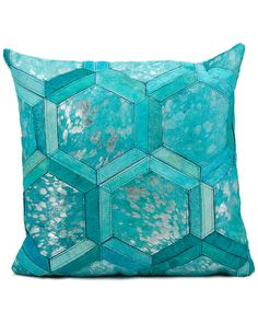 "Rue La La — Nourison ""Turquoise Metallic"" Decorative Pillow"