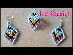 Beaded Earrings, Beaded Jewelry, Crochet Earrings, Beading Projects, Beading Tutorials, Earring Tutorial, Brick Stitch, Collar Necklace, Beaded Flowers