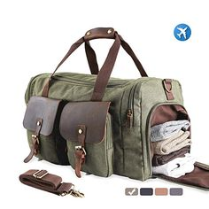 7a0bb91ced63 MEWAY Large Multi-Functional Canvas Overnight Bag With Shoes Compartment