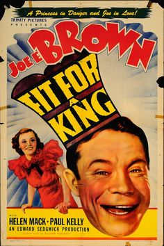 """Fit for a King 1940's Authentic 27"""" x 41"""" Original Movie Poster Paul Kelly Comedy U.S. One Sheet"""