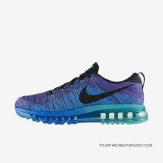 5298d3d806fc81 Mens Nike Flyknit Air Max Hyper Grape Photo Blue Hyper Jade Blk TopDeals