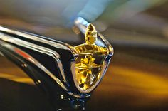 1956 Lincoln Premiere Convertible Hood Ornament by Jill Reger