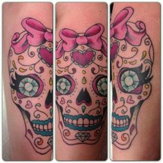 My super girly sugar skull tattoo. :) | Ink & piercings ...
