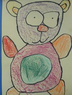 Texture Teddy Bears - Artsonia Lesson Plan