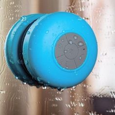 Bluetooth Shower Speaker. You can play music from your phone in the shower!