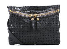 Campomaggi Lavata Schultertasche Leder schwarz 24 cm - C1541VLF2-2000 - Designer Taschen Shop - wardow.com