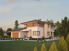 Find home projects from professionals for ideas & inspiration. CYPRYS 8 by Biuro Projektów MTM Styl - domywstylu. Storey Homes, House 2, Modern House Design, Home Projects, Modern Architecture, House Plans, Home And Family, New Homes, Home And Garden