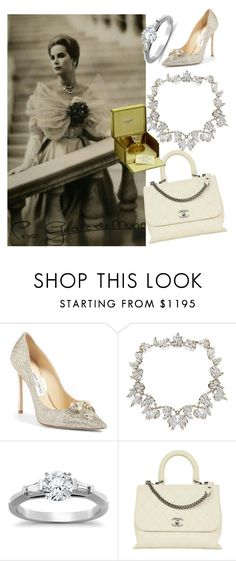 """""""grace kelly"""" by miha-jez ❤ liked on Polyvore featuring Jimmy Choo, Tiffany & Co., Chanel and Jean Patou"""