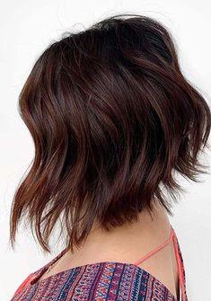 Fantastic Short Bob Haircuts for Women to Try in Year 2020 Bob Haircuts 2017, Best Bob Haircuts, Bob Hairstyles With Bangs, Bob Haircuts For Women, Hairstyles Haircuts, Pretty Hairstyles, Short Hair Lengths, Short Hair Styles, Medium Asymmetrical Bob