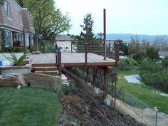 Image result for platform decking on a steep hill designs