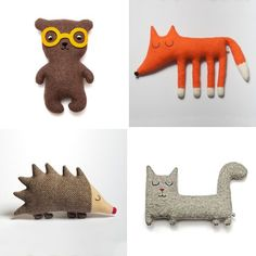 Lambswool Plush Toys by Sara Carr: