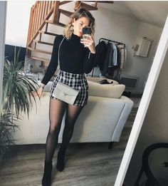 55 Gorgeous Summer Outfits to Update Your Wardrobe Cute Going Out Outfits, Cute Skirt Outfits, Winter Skirt Outfit, Edgy Outfits, Mode Outfits, Girl Outfits, Classy Winter Outfits, Summer Fashion Outfits, Casual Fall Outfits