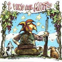 Il vino del matto etichetta by Massimiliano Frezzato