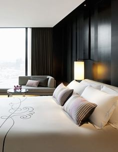 Crown Metropol hotel in Melbourne.  They can be vintage, modern, mid-century or even eclectic, but suite rooms have to be elegant, confortable and cozy. See more decor tips here: http://www.pinterest.com/delightfulll/