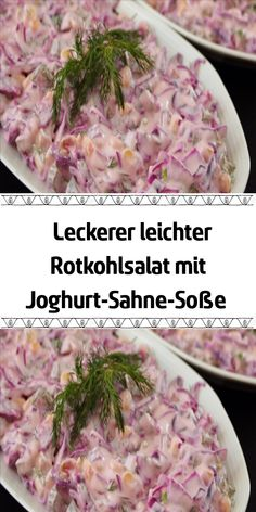 Delicious light red cabbage salad with yoghurt cream sauce, # yoghurt cream sauce # recipe salmon # . - Delicious light red cabbage salad with yoghurt cream sauce, # Yogurt cream sauce salmon # - Salad Recipes Healthy Lunch, Salad Recipes For Dinner, Sauce A La Creme, Sauce Tartare, Red Cabbage Salad, Dried Beans, Greens Recipe, How To Make Salad, Fresh Vegetables