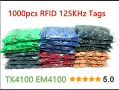 [Visit to Buy] 8 Color 100pcs RFID Tag TK4100 EM4100 125KHz Proximity Keyfobs Tags RFID Card for Access Control Time Attendance #Advertisement