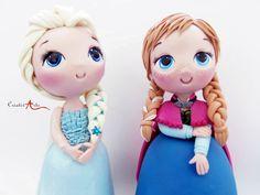 Elsa e Anna Customizada 20cm   Criativ Arts   Elo7
