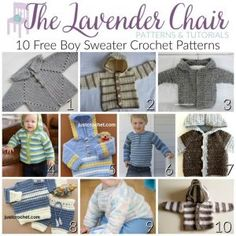 Crochet Blusas Patterns 10 FREE Boy Sweater Crochet Patterns - The Lavender Chair - I adore every singe one of these boy sweater crochet patterns! Looking for girls sweaters? Check out my 10 Free Crochet Sweater Patterns For Girls post! Crochet Toddler, Crochet Baby Clothes, Crochet For Boys, Free Crochet, Boy Crochet, Crochet Jumper, Black Crochet Dress, Crochet Dresses, Crochet Blanket Patterns