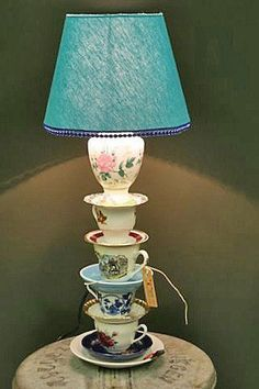 3 Quirky Lamps To Try At Home, You are able to enjoy break fast or various time times using tea cups. Tea cups also have decorative features. When you consider the tea cup types, you might find this clearly. Upcycled Home Decor, Repurposed, Diy Home Decor, Quirky Home Decor, Tea Cup Lamp, Decoration Shabby, Teacup Crafts, Deco Luminaire, Lamp Shades
