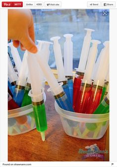 Looking for a great party favor idea? Take some Mad Scientist Jell-O Shot Syringe Party Favors to your next party. Make them for adults or kids!