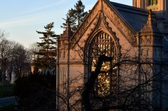 light and architecture - New Year's Day - Greenwood Cemetery Brooklyn, NY - deux lunes