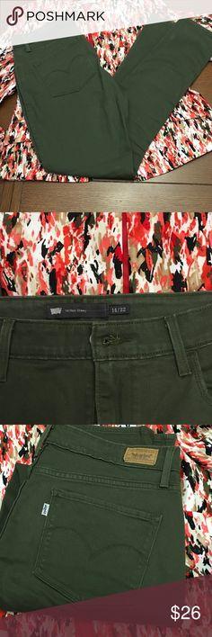NWOT Olive Colored Levi Hi Rise Skinny NWOT Olive Colored Levi Hi Rise 5 Pocket Skinny, Levi's Jeans Skinny