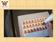 Teddy bear pressure piping tutorial  royal icing decorations, make in advance and store