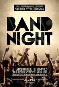 band tour flyer template - Google Search